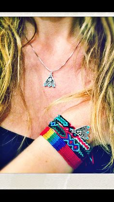 Lucky charm 14! Hippie silver necklace by Celia d