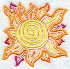 Machine Embroidery Designs at Embroidery Library! - Suns