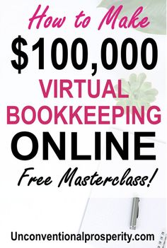 Here are the pros and cons of starting a virtual bookkeeping business! You can make a year with your own virtual bookkeeping business online! You don't even need a degree or any experience or Make money online extra cash Earn More Money, Ways To Earn Money, Earn Money Online, Online Jobs, Money Tips, Way To Make Money, How To Make, Money Hacks, Money Plan