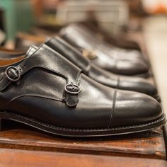 """For #doublemonk lovers.. Our #Black """"Elègant"""" available at Velasca.com #velascamilano #mensstyle #menswear #mensfashion #shoes #shoesoftheday #footwear"""