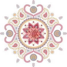 Fotomural loto mandala wallpaper