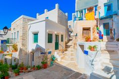 Greece Siros, street view of traditional Greek houses in chora, Wall Mural Syros Greece, Enchanted Island, Greek House, Chor, Greece Travel, Greek Islands, Bed And Breakfast, Wall Murals, Places To Go