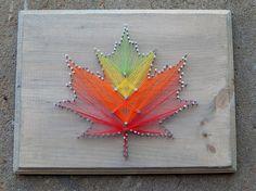 Fall Leaf String Art by MakeupAndMudCrafts on Etsy