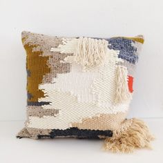 Image of TWEED WOVEN PILLOW
