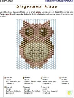 bead embroidery patterns on fabric Bead Embroidery Patterns, Beading Patterns Free, Seed Bead Patterns, Owl Patterns, Beaded Bracelet Patterns, Peyote Patterns, Beaded Embroidery, Weaving Patterns, Mosaic Patterns
