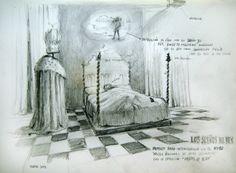 José Luis Serzo, El sueño del rey (de la república), boceto.