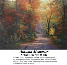 Autumn Memories, Charles White Counted Cross Stitch Patterns - Kits & Digital Downloads #pinterestcrossstitchpatterns #crossstitch #pinterestgifts
