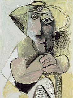 Pablo Picasso - Sitting Man, 1971