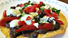 This Green Chile Sour Cream will turn any Mexican dish into a gourmet dinner - like these Black Bean Tostadas. So rich and flavorful. Who needs Dairy?