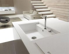 Contemporary Italian Kitchen Island with water faucet