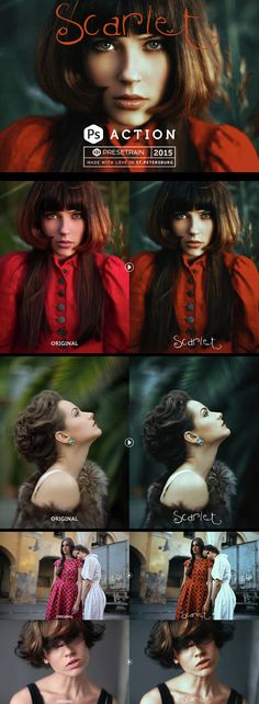 Scarlet Fantasy Photoshop Action - Photo Effects Actions