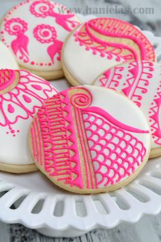 Haniela's: Henna Cookies, Pattern Templates