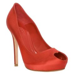 I wish I had more places to go that required wearing heels. Alexander McQueen Valentine heart peep-toe heels.