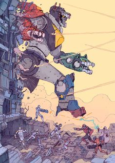 'Voltron Legendary Defender' by Josan Gonzalez