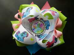 """My Little Pony Hair Bow...My Little Pony Party. VISIT MY ETSY STORE AND RECEIVE 15% OFF YOUR PURCHASE. ENTER PROMO CODE """"PINTEREST"""""""