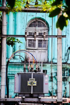 Awesome coloured buildings. Living in Sin: Yangon, Myanmar - some pictures from our weekend away