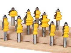 "10 pc. Multi-Profile Architectural Molding Router Bit Set - 1/2"" Shank"