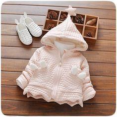 >> Click to Buy << Warm Winter Baby Girls Infants Kids Hooded Thicken Velvet Jacket Coat Outwear Roupas De Bebe Casaco S4020 #Affiliate
