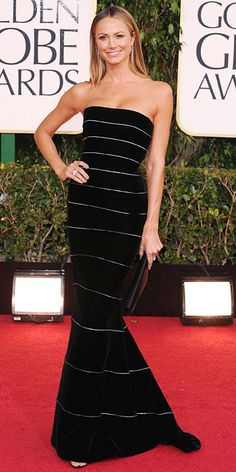 She is amazingly gorgeous! Stacy Keibler @ the 2013 Golden Globes www.instyle.com