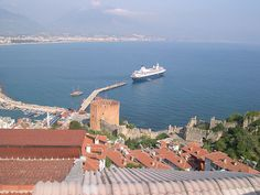 The cruise ship, Dream Princess, (formerly Song of Norway) anchored in Alanya, Turkey - 2005 by Brian Negin, via Flickr