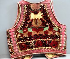 Early Hungarian vest on leather late 19th c