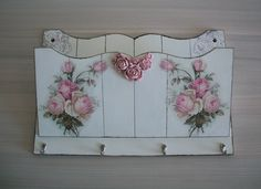 Decoupage Vintage, Wooden Wall Decor, Wooden Walls, Decopage, Wood Tools, Decoration, Container Gardening, Quilling, Dyi
