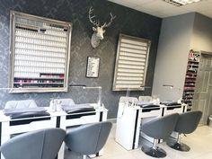 Nail Salon Decor, Beauty Salon Decor, Beauty Salon Interior, Salon Interior Design, Modern Interior, Nail Station, Nail Room, Nail Designer, Nail Bar