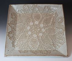 Bridges Pottery:  this is perfect! how to make the lace pop a little more?