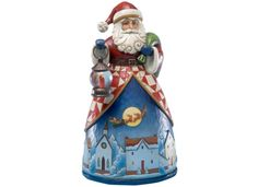 Jim Shore Santa Up Over the Village Collectible Figurine - Holiday Lane - Macy's