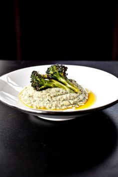 Geroosterde broccoli met hummus ♥ Foodness - good food, top products, great health