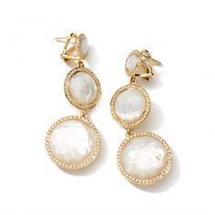 18k Gold Rock Candy 3 Drop Lollipop Earrings With Diamonds Express Your Love