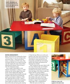 Childrens Table and Chairs Plans - Children's Furniture Plans