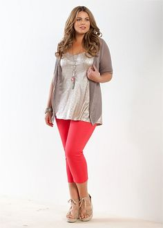 Fashion Plus Size - Large Size Womens Clothes, Tops & Dresses | Fashionable Plus Size Clothes - GLEAM TANK - Virtu