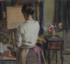 Lady at an Easel, Duncan Grant (1885–1978), Oxford Brookes University