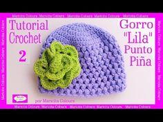 """Gorro Bebé Punto Puff Crochet """"Lila"""" (1) por Maricita Colours Subtitles in English & Deutsch - YouTube"""