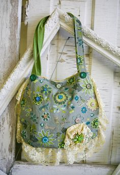 Fun Handmade Bag from Vintage Fabrics by VintageGardensKS on Etsy
