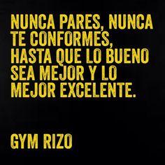 fraces para un entrenamiento | Recopilación frases de motivación. Gym Rizo Motivation…
