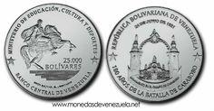 Moneda Conmemorativa del 180 Aniversario de la Batalla de Carabobo