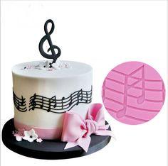 Music Notes Silicone Mould Cake Chocolate Candy Fondant Decoration Sugarcraft