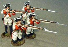 Seven Years War 1756-1763 ROT-04N Roth Wurzburg Infantry Regiment Firing set #2 - Made by John Jenkins Designs Military Miniatures and Models. Factory made, hand assembled, painted and boxed in a padded decorative box. Excellent gift for the enthusiast.