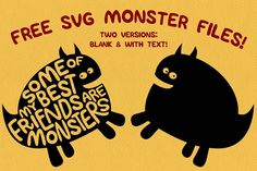 Monster SVGs from DesignBundles.net