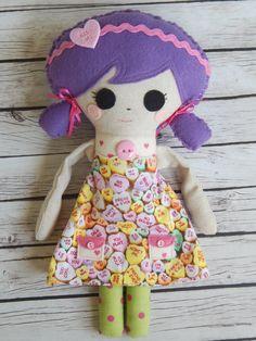 Valentine Doll Layla by MsBittyKnacks on Etsy
