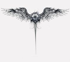 Arm tattoo, wing tattoos on back, chest tattoo, map tattoos, spine tattoos Wing Tattoos On Back, Tattoo Side, Nape Tattoo, Spine Tattoos, Chest Tattoo, Body Art Tattoos, Sleeve Tattoos, Small Tattoos, Tattoo Wings