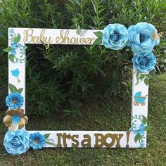 Baby Shower Baby Boy Photo Frame Cuadro Tematico Made By Thelma