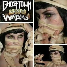 """Under Wraps""  MUA: Sarah Potts Model: Shady Canary Band Artwork: Ghost Town Inspiration: Alister Dippner"