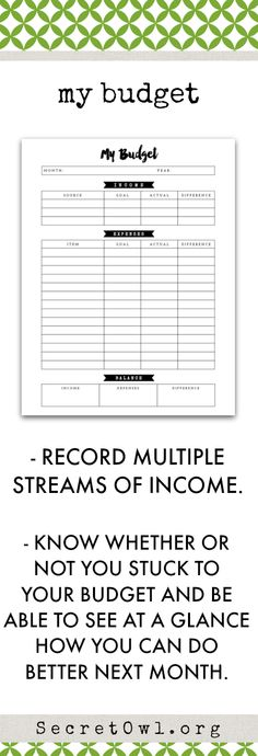 Expense Tracker Budget Planner Budget Planner Inserts Monthly