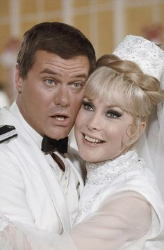 "Larry Hagman and Barbara Eden, ""I dream of Jeannie"" I LOVED THIS SHOW!!!!"