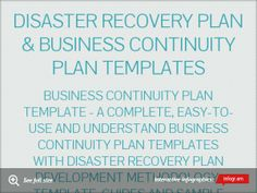Disaster recovery business continuation to follow up on disaster recovery plan business continuity plan templates by levijoseph infogram flashek