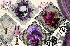 Gothic Romance Digital Scrapbooking Kit Gothic Valentine | Etsy