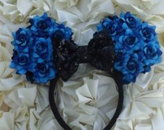Minnie Mouse Ears Black Rose